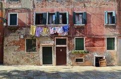 Моя виды, который нужно высушить в Венеции, Италии стоковые изображения rf