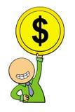 Моя монетка бесплатная иллюстрация