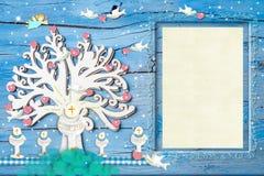 Моя первая рамка фото святого причастия Стоковая Фотография