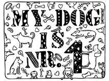 Моя собака nr 1 Стоковое Изображение