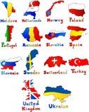 Молдавия нидерландская Норвегия Польша Португалия Румыния Стоковая Фотография