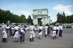 Молдавия, Chisinau, День независимости, квадрат национального собрания, n Стоковые Изображения RF