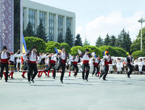 Молдавия, Chisinau, День независимости, квадрат национального собрания, n Стоковые Фотографии RF