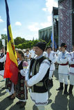 Молдавия, Chisinau, День независимости, квадрат национального собрания, n Стоковая Фотография RF