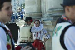 Молдавия, Chisinau, День независимости, квадрат национального собрания, n Стоковое Изображение