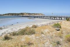 Мола гавани Виктора, полуостров Fleurieu, южная Австралия Стоковое фото RF