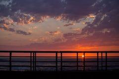 Мола захода солнца Стоковая Фотография