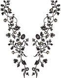 Мода дизайна иллюстрации Neckline Стоковые Изображения