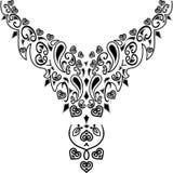Мода дизайна иллюстрации Neckline Стоковые Изображения RF