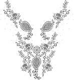 Мода дизайна иллюстрации Neckline Стоковая Фотография RF