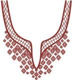 Мода дизайна иллюстрации Neckline Стоковая Фотография