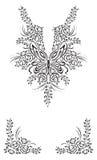 Мода дизайна хны Кашмира Стоковое Фото