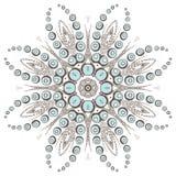 Мода дизайна хны мандалы Стоковая Фотография RF