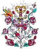 Мода дизайна хны мандалы Стоковое Фото