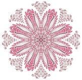 Мода дизайна хны мандалы Стоковая Фотография