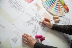 Мода или дизайнеры портноя Стоковые Изображения