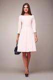 Мода красоты одевает вскользь брюнет модели женщины собрания Стоковая Фотография RF