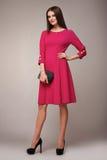 Мода красоты одевает вскользь брюнет модели женщины собрания Стоковые Изображения