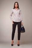 Мода красоты одевает вскользь брюнет модели женщины собрания Стоковые Фотографии RF