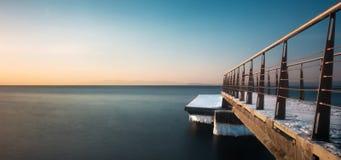 Мола на заходе солнца Стоковая Фотография RF