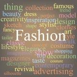 Мода. Облако бирки Стоковое Фото