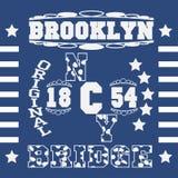 Мода оформления Нью-Йорка, футболка иллюстрация вектора
