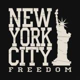 Мода оформления Нью-Йорка, футболка бесплатная иллюстрация