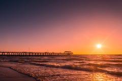 Мола пляжа Henley, южная Австралия Стоковое фото RF