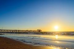 Мола пляжа Henley, южная Австралия Стоковые Фото