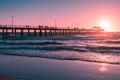 Мола пляжа Henley, южная Австралия Стоковая Фотография