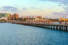 Мола пляжа St Kilda, Виктория, Австралия Стоковые Фото