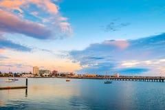 Мола пляжа St Kilda, Виктория, Австралия Стоковые Изображения RF