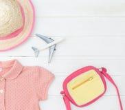 Мода розового girly путешественника ребенка красочная Стоковые Изображения RF
