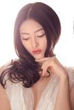 Мода студии снятая азиатской женщины Стоковая Фотография