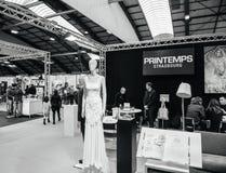 Мода Printemps на Салоне du Замужестве wedding справедливая Франция Стоковое Изображение RF