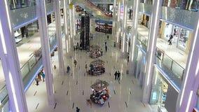 Мол Дубай внутри взгляда сток-видео