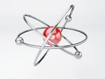 Молекула, атом на белой предпосылке Стоковые Фото