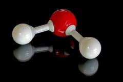 Молекула воды в шариках и штангах Стоковые Изображения