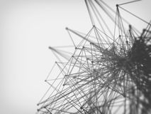 Молекула и предпосылка связи Стоковая Фотография RF