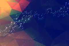 Молекула и связь структуры Дна, атом, нейроны Научная концепция для вашего дизайна Соединенные линии с точками Стоковое Изображение RF