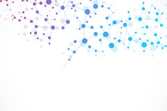 Молекула и связь структуры Дна, атом, нейроны принципиальная схема научная Стоковые Изображения RF