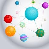 Молекула - иллюстрация Стоковое Изображение