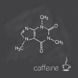 Молекула кофеина Стоковое Изображение