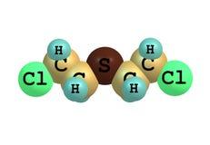 Молекула мустарда серы изолированная на белизне бесплатная иллюстрация