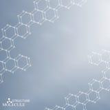 Молекула структуры и дна связи, атом Стоковые Фото