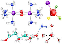 Молекулы Стоковое Фото