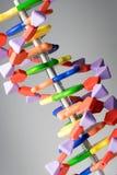 Молекулярный, дна и модель атома в исследовательской лабаратории науки Стоковые Фото