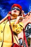 модельный ретро курить Стоковая Фотография RF