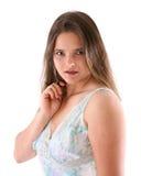 модельный nightgown Стоковые Фотографии RF