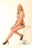 модель блондинкы бикини Стоковая Фотография